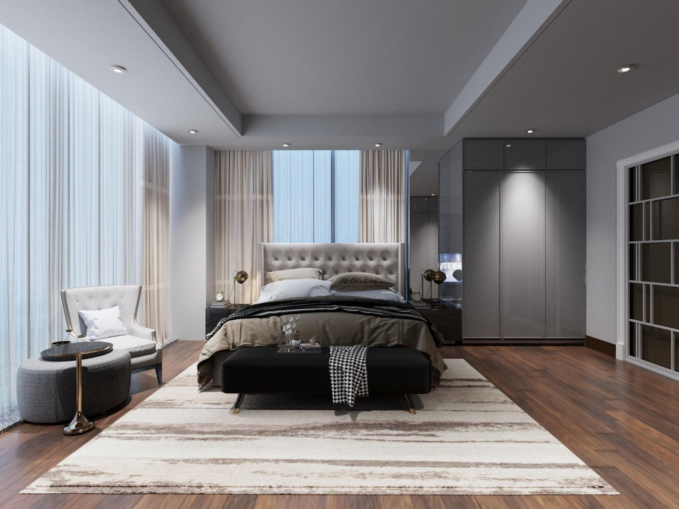 Phòng ngủ được có ánh sáng đèn dịu nhẹ