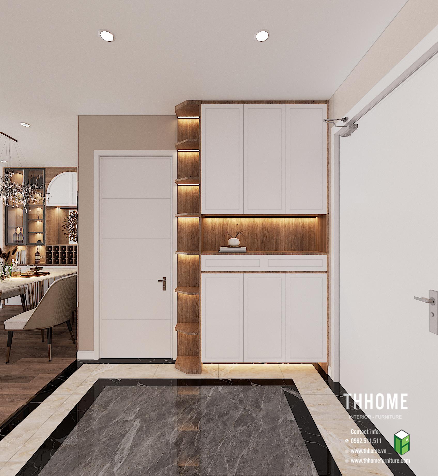 Tủ giày căn hộ 1703 CC Hoàng Huy