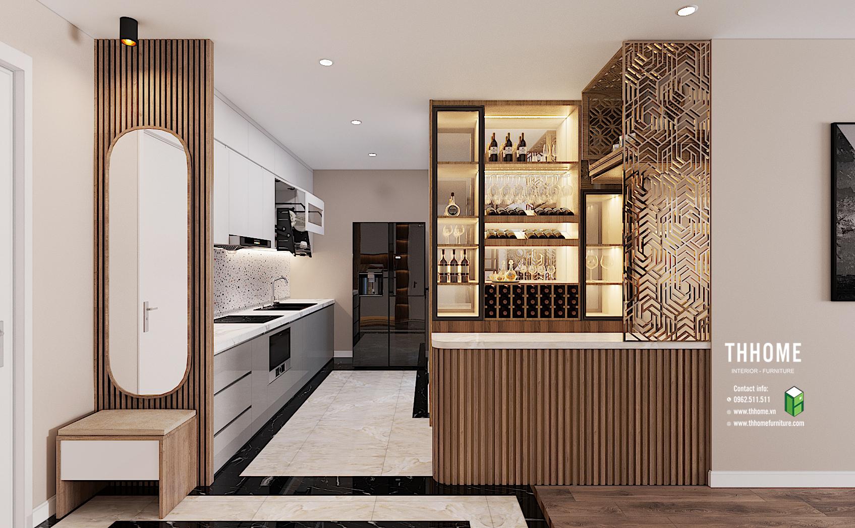 Kết hợp vật liệu tự nhiên và công nghiệp trong thiết kế nội thất phong cách hiện đại