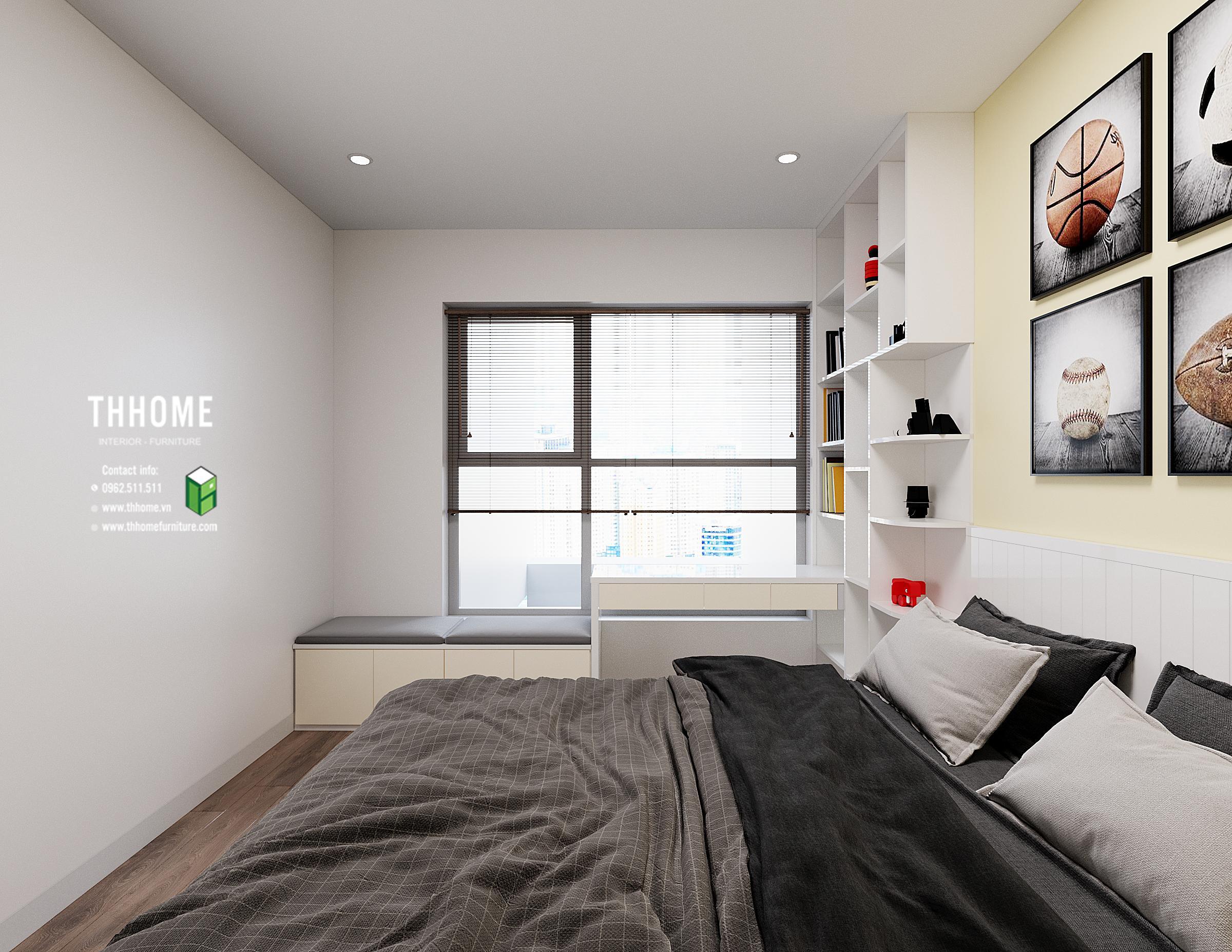 Phòng ngủ bé trai trong căn hộ 1703 CC Hoàng Huy