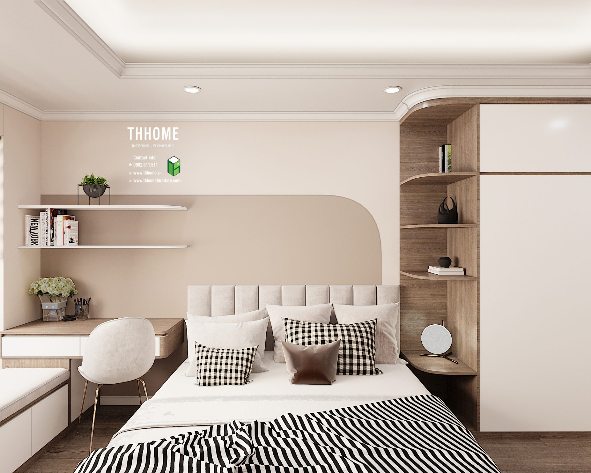Phòng ngủ căn hộ 08 G2 Sunshine Garden