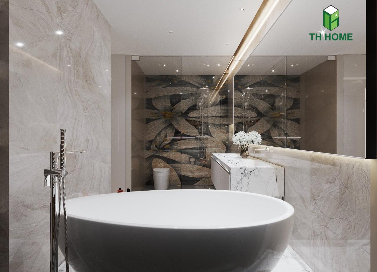 phòng tắm tiện nghi của biệt thự liền kề vinhomes ocean park