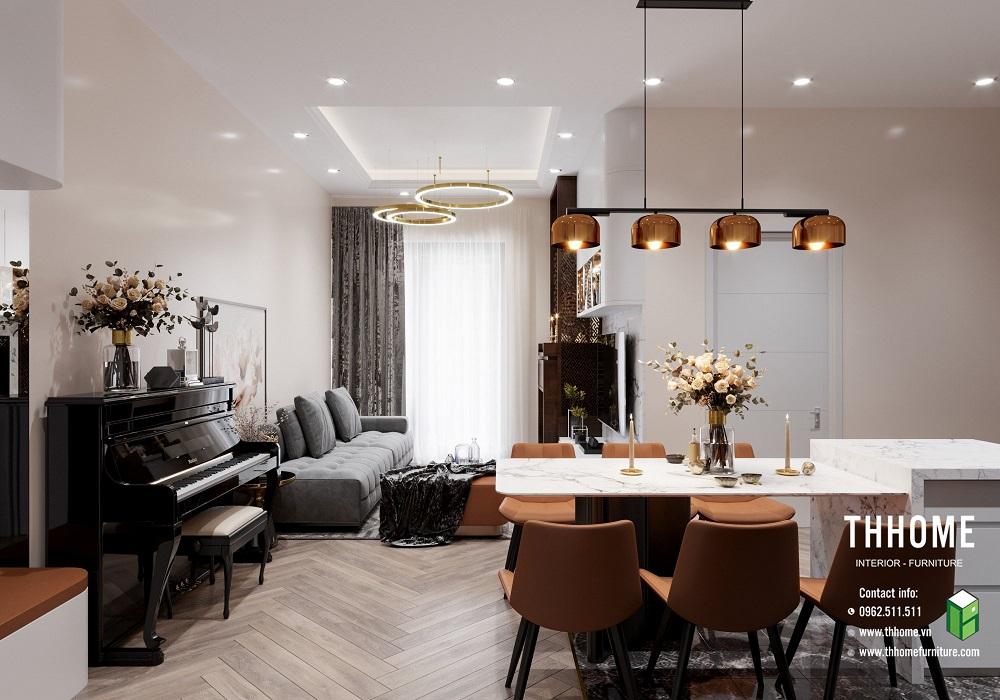 khu vực bàn ăn của căn hộ 15a12 mỹ đình pearl