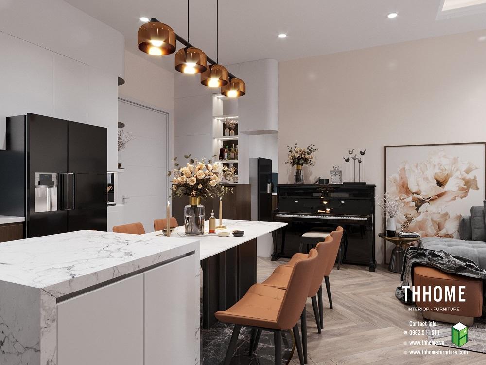 phòng bếp căn hộ 15a12 đủ đầy