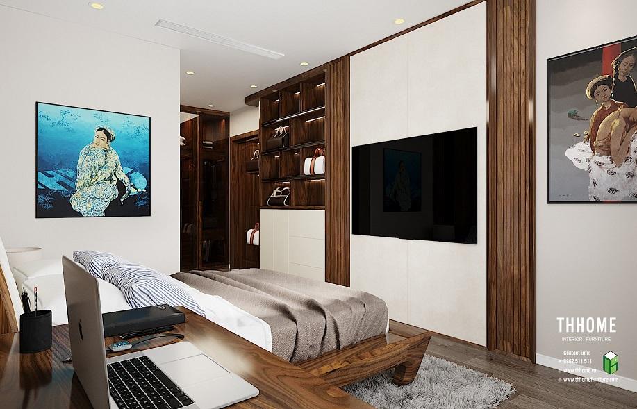 Phòng ngủ vừa vặn với những thiết kế giản dị, hiện đại