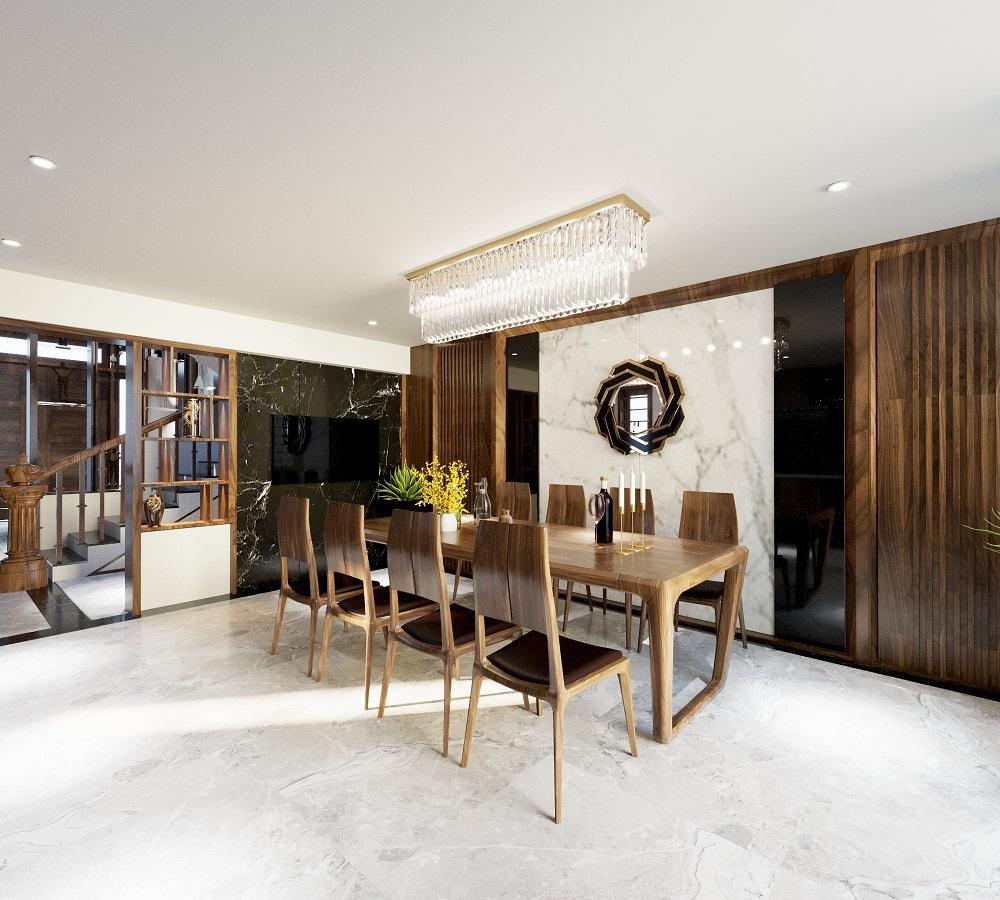 Phòng ăn đơn giản, đáp ứng đủ công năng và tiện nghi nội thất