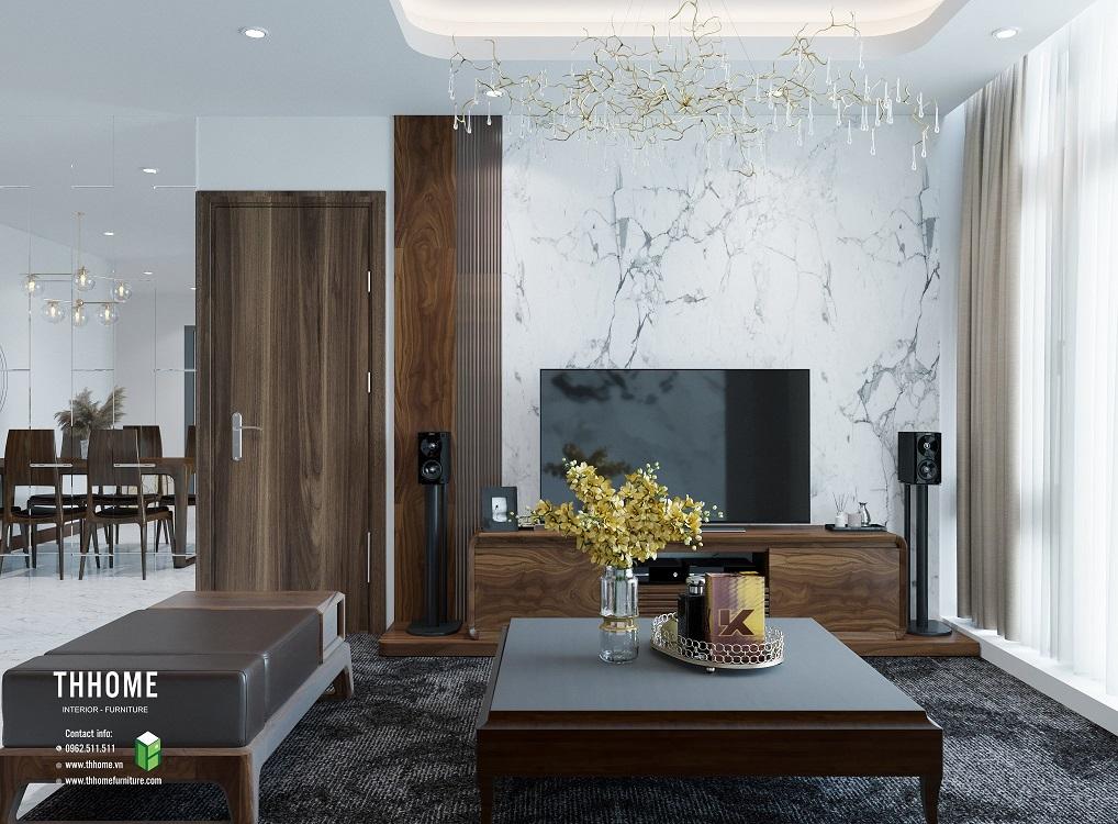 nội thất phòng khách gỗ tự nhiên