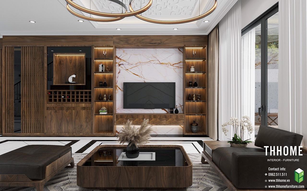 nội thất gỗ óc chó cho chung cư mipec rubik 360