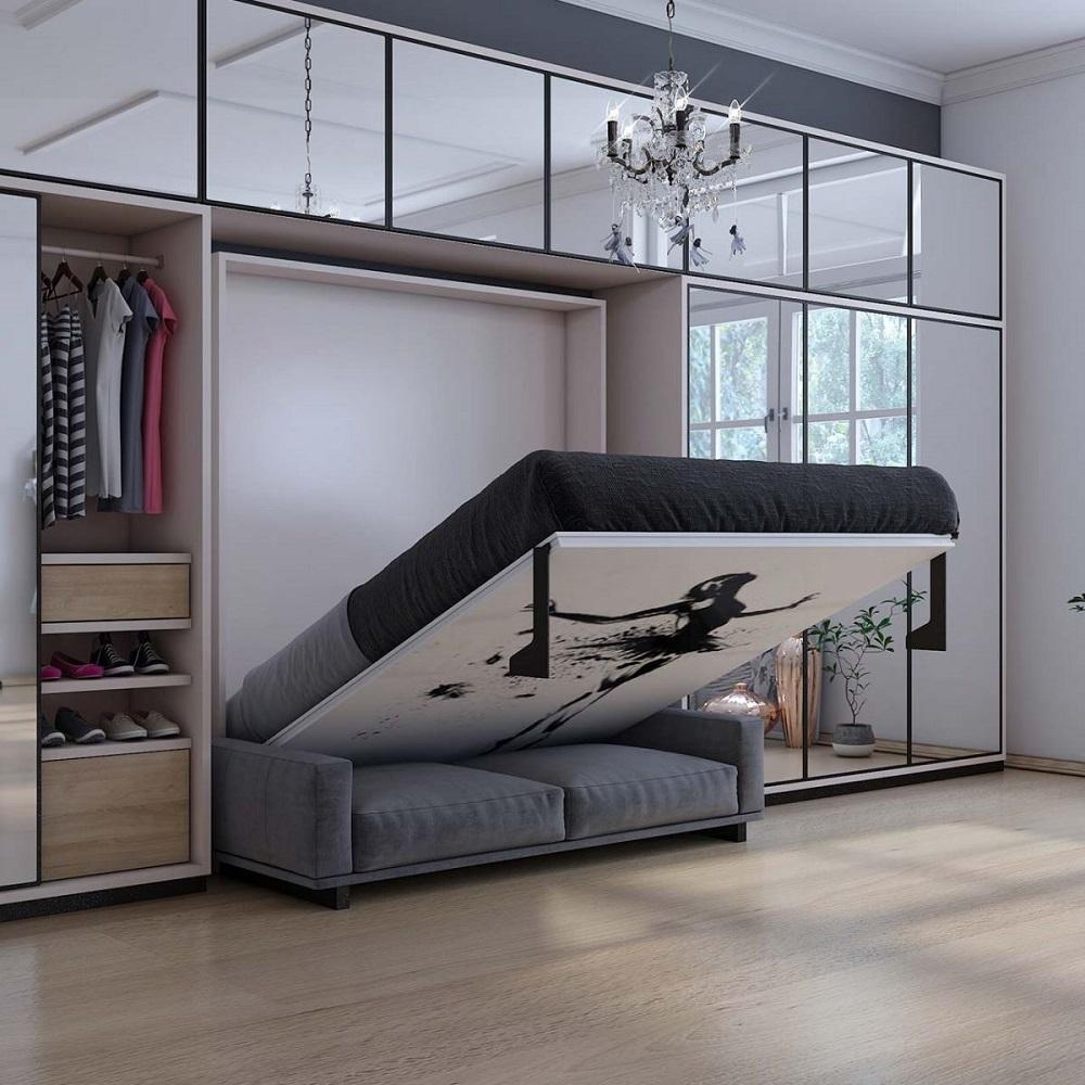 thiết kế nội thất thông minh - giường ngủ sofa
