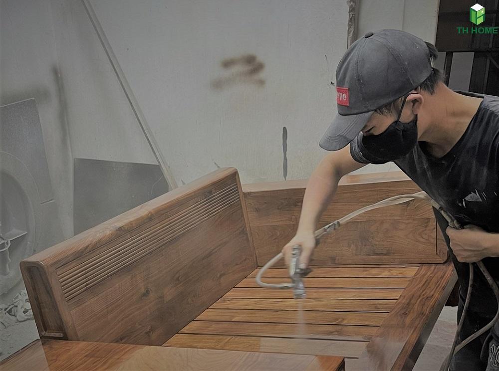 xưởng sản xuất nội thất gỗ óc chó TH Home