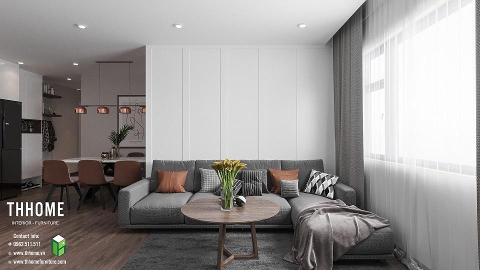 Phòng khách chung cư Phú Thịnh