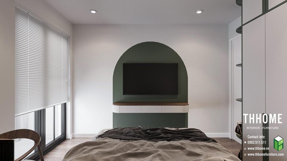 phòng ngủ thông thoáng, đơn giản