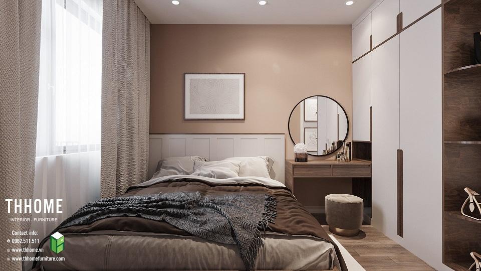 phòng ngủ thứ 2 căn hộ chung cư Phú Thịnh
