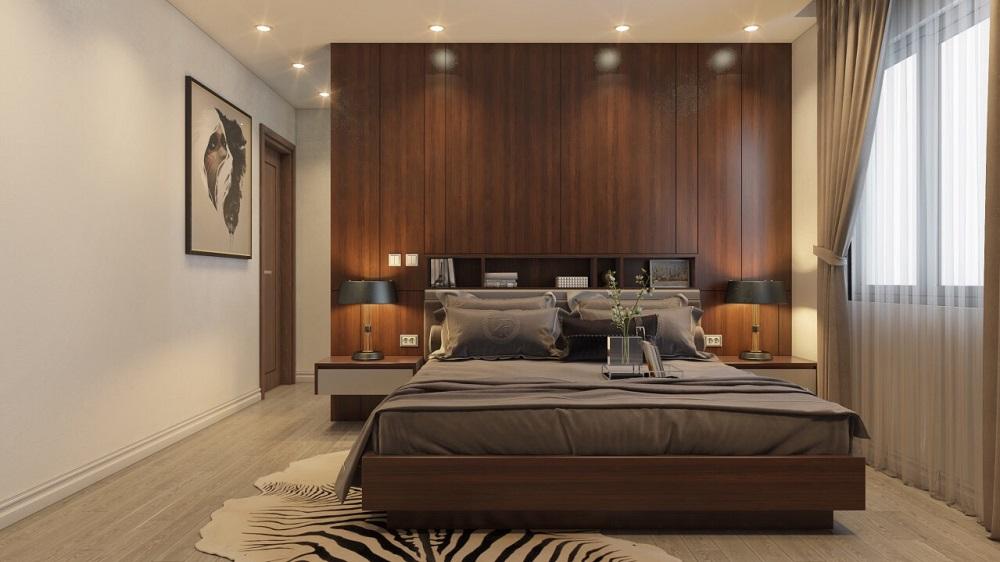 Giường ngủ gỗ óc chó veneer