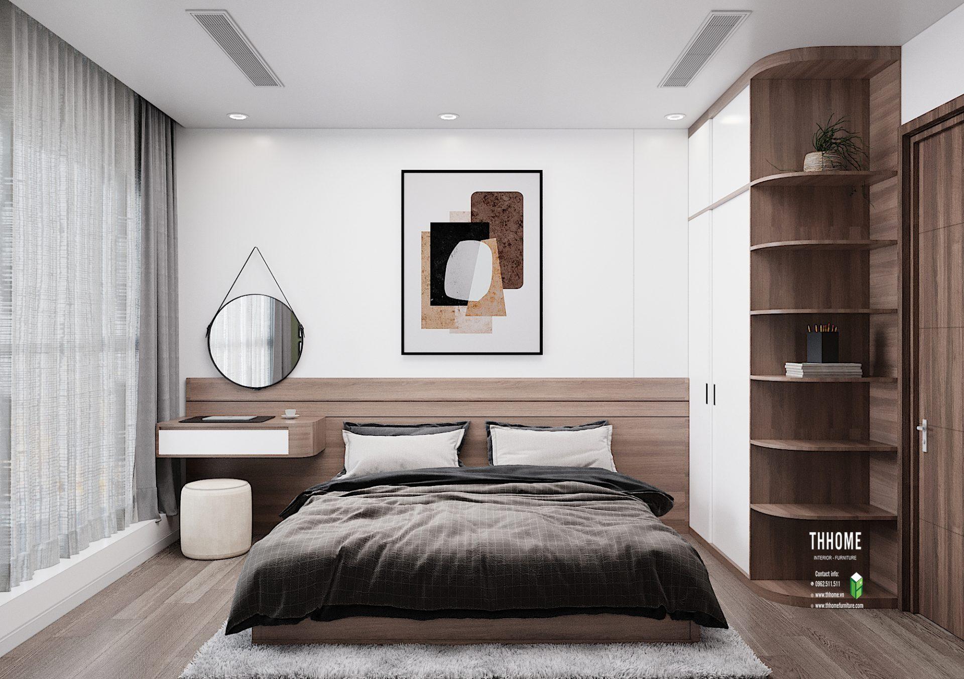 Phòng ngủ căn hộ 15A05 S4 Sunshine City