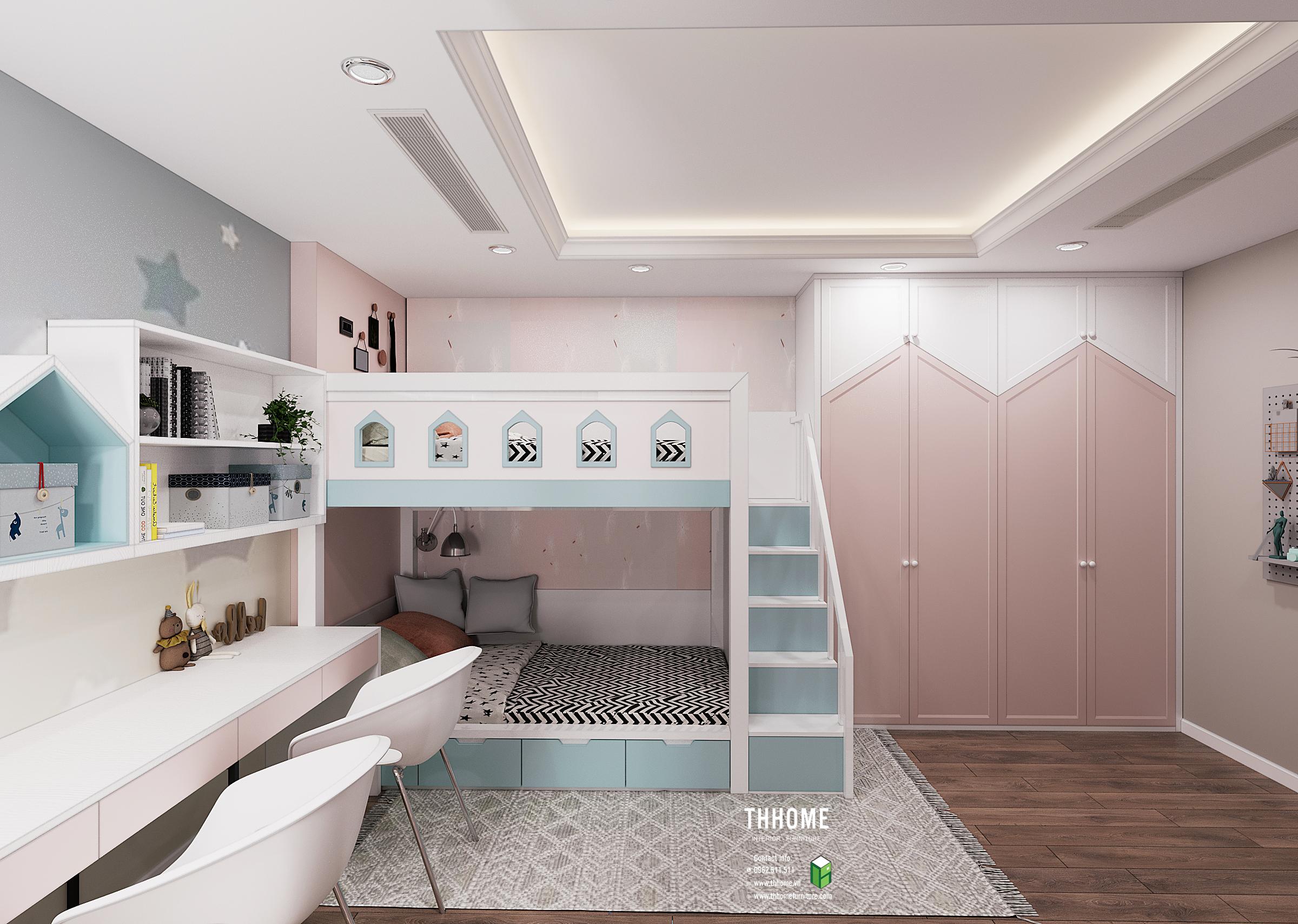 Phòng ngủ con gái căn hộ 03 G3 Sunshine Garden