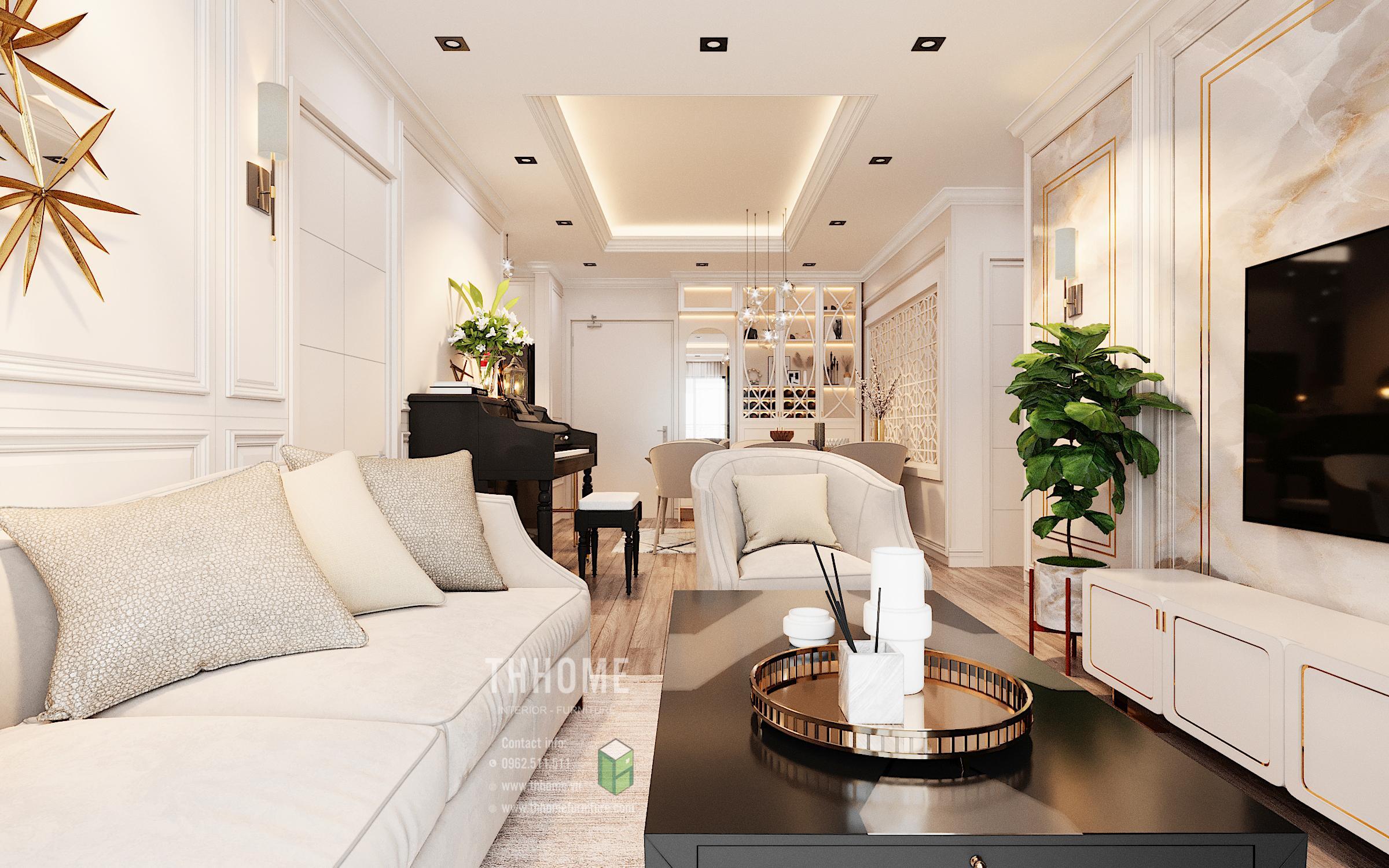 kết hợp cả vật liệu tự nhiên và công nghiệp trong thiết kế nội thất phong cách Tân cổ điển
