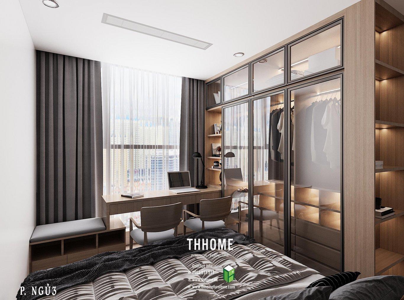 Thiết kế độc lạ từ căn phòng ngủ thứ 3 với khoảng view làm việc đầy sáng tạo