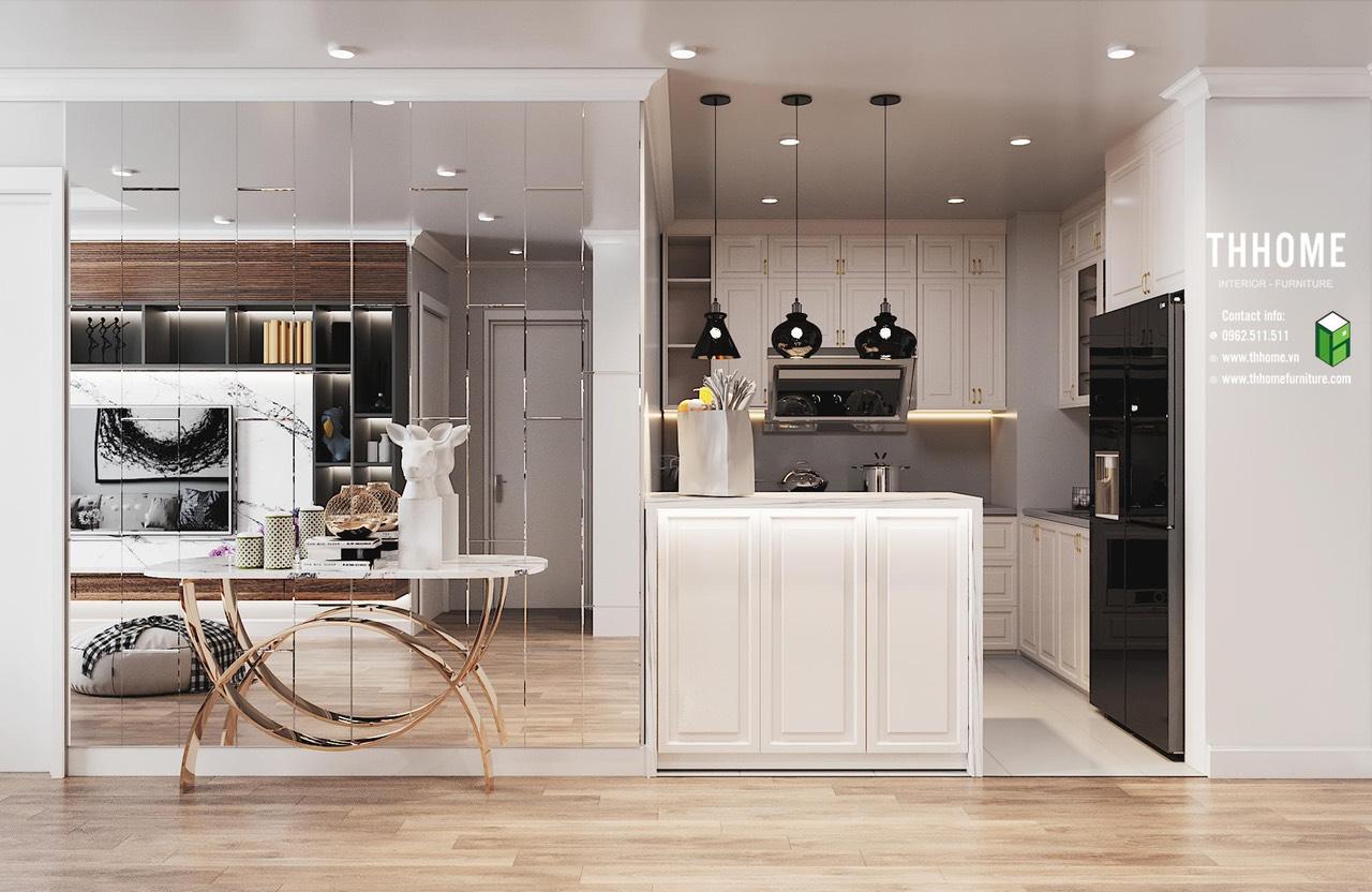 Phòng bếp gọn gàng, ngăn nắp với những món đồ hiện đại