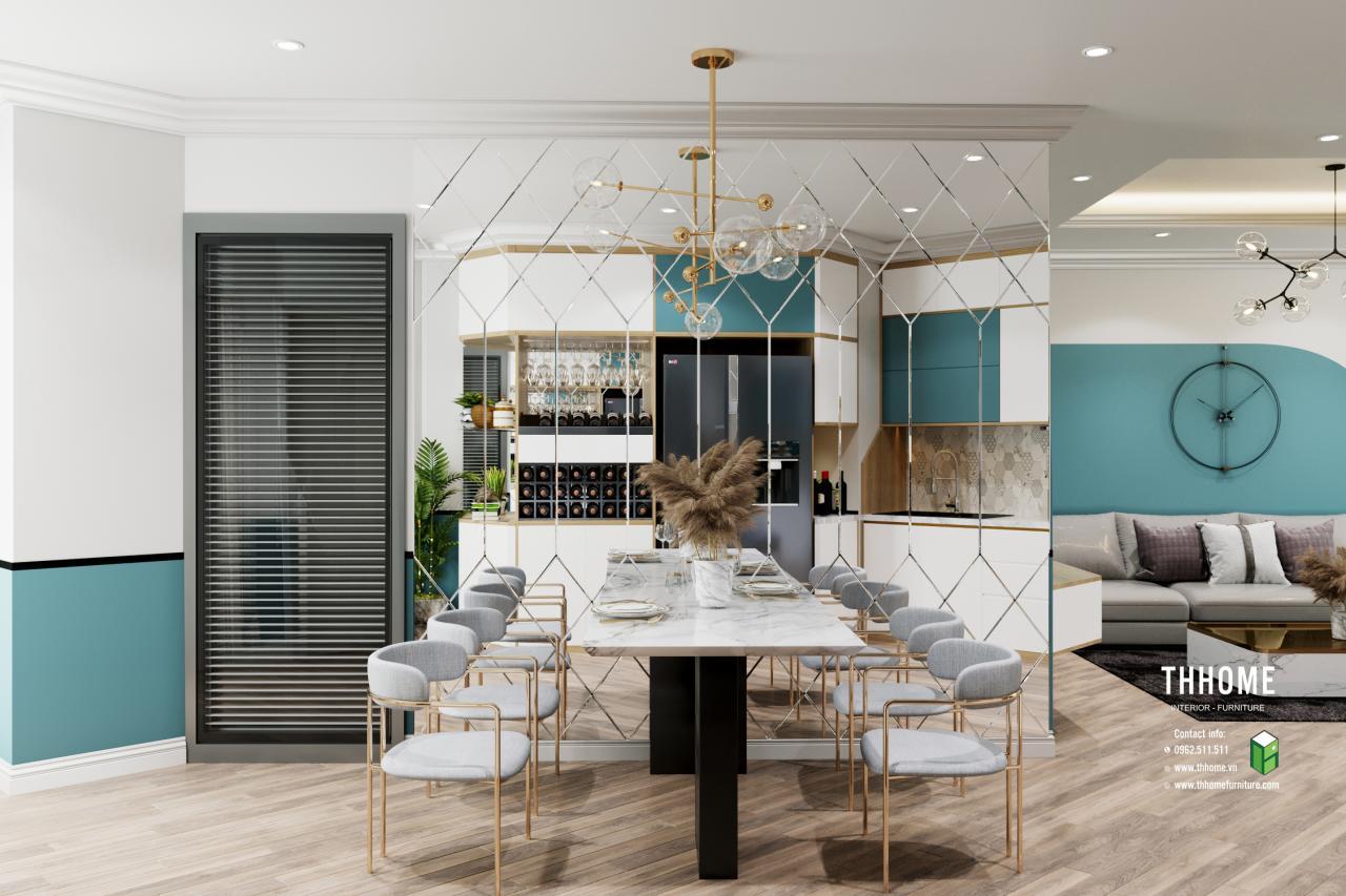 Phòng bếp căn hộ chung cư Vinaconex