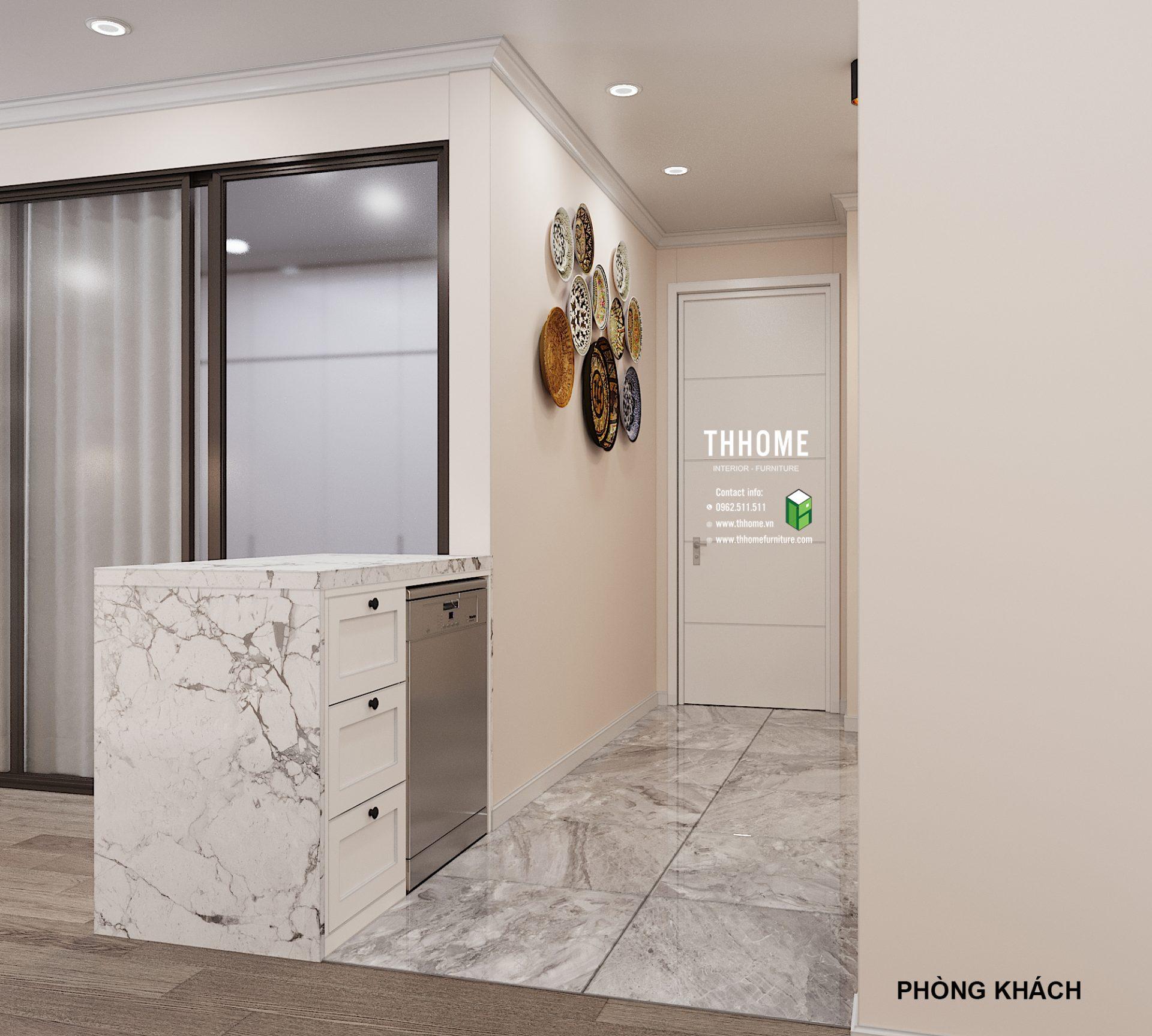 Lối vào nhà với thiết kế đơn giản, tinh tế mà không quá cầu kỳ