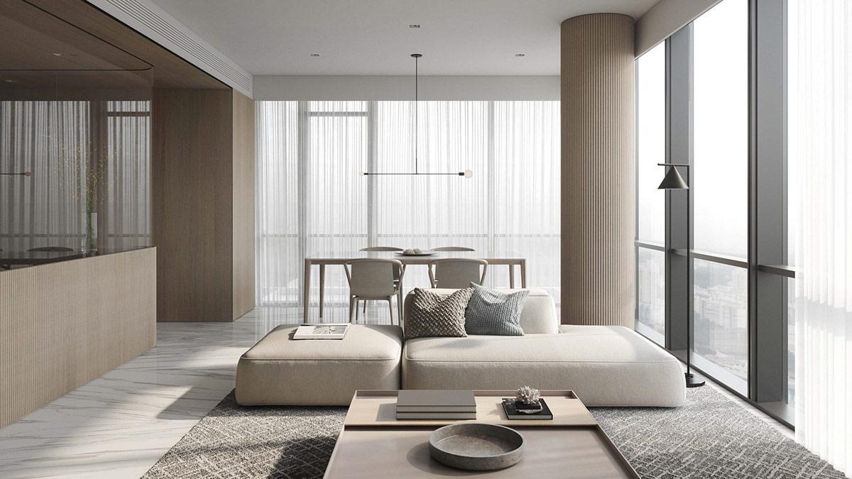 Thiết kế nội thất một căn hộ mang phong cách Minimalism