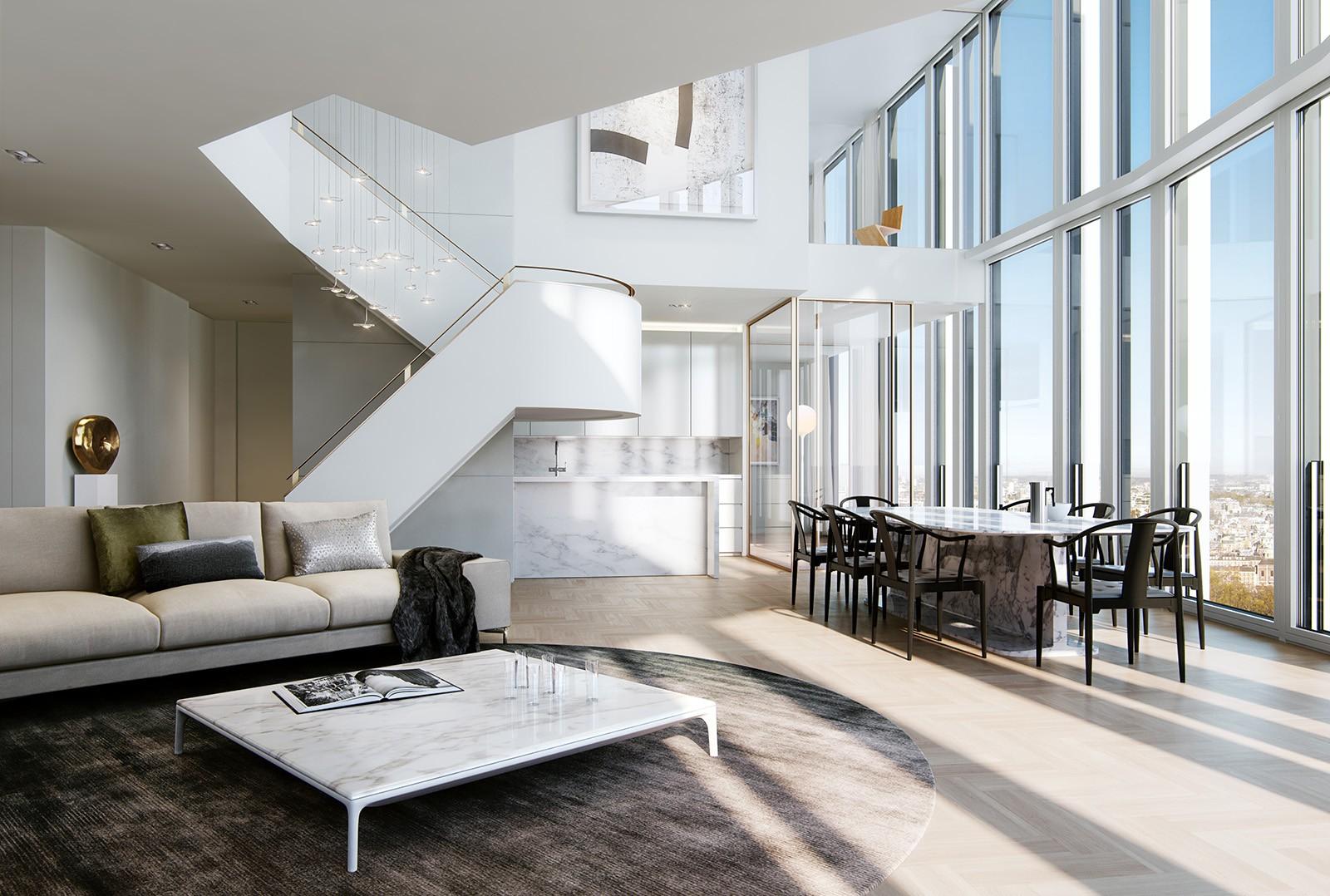 Căn penthouse sang trọng và đẳng cấp được thiết kế theo phong cách Bắc Âu