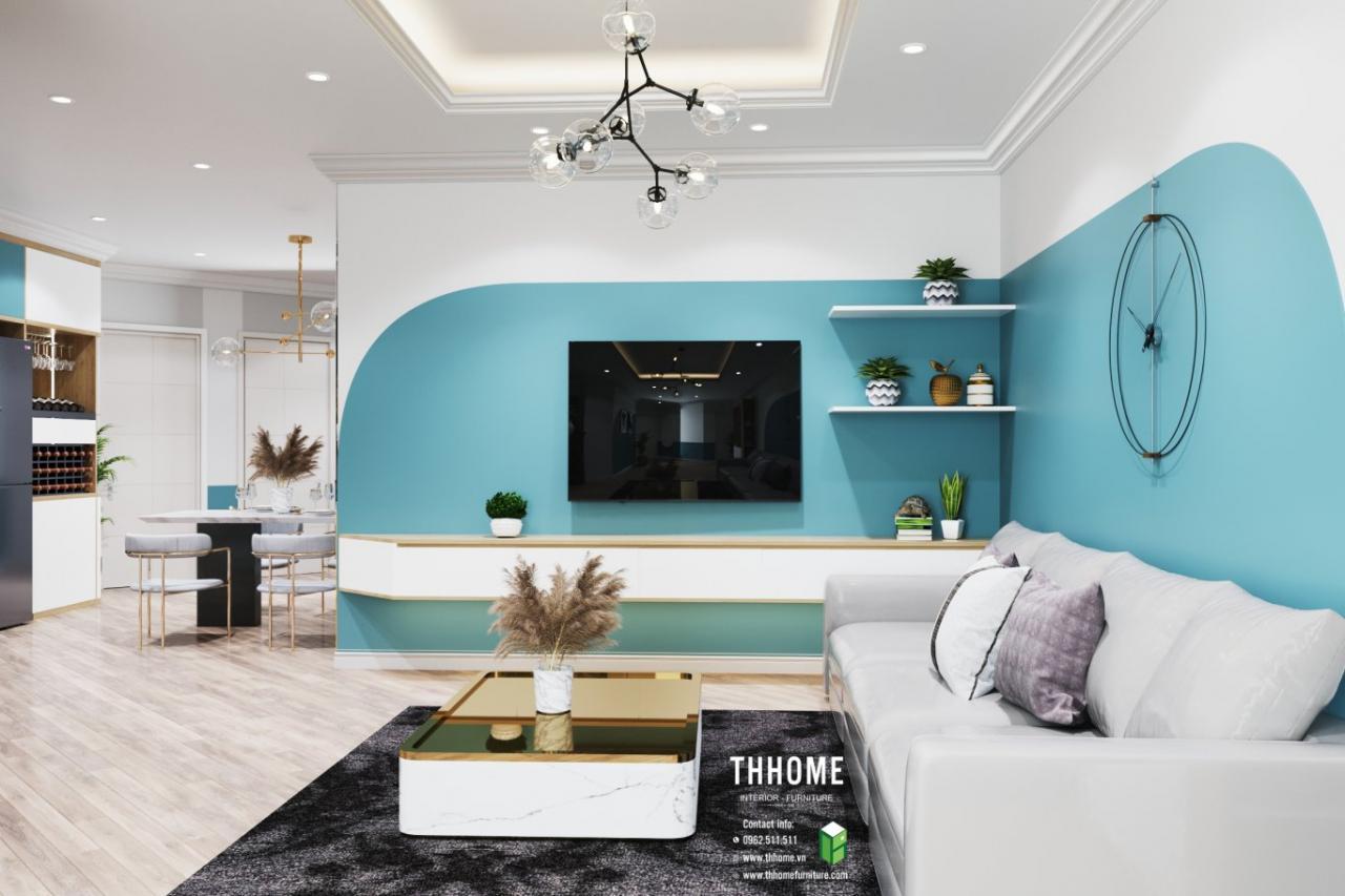 Phòng khách căn hộ chung cư Vinaconex