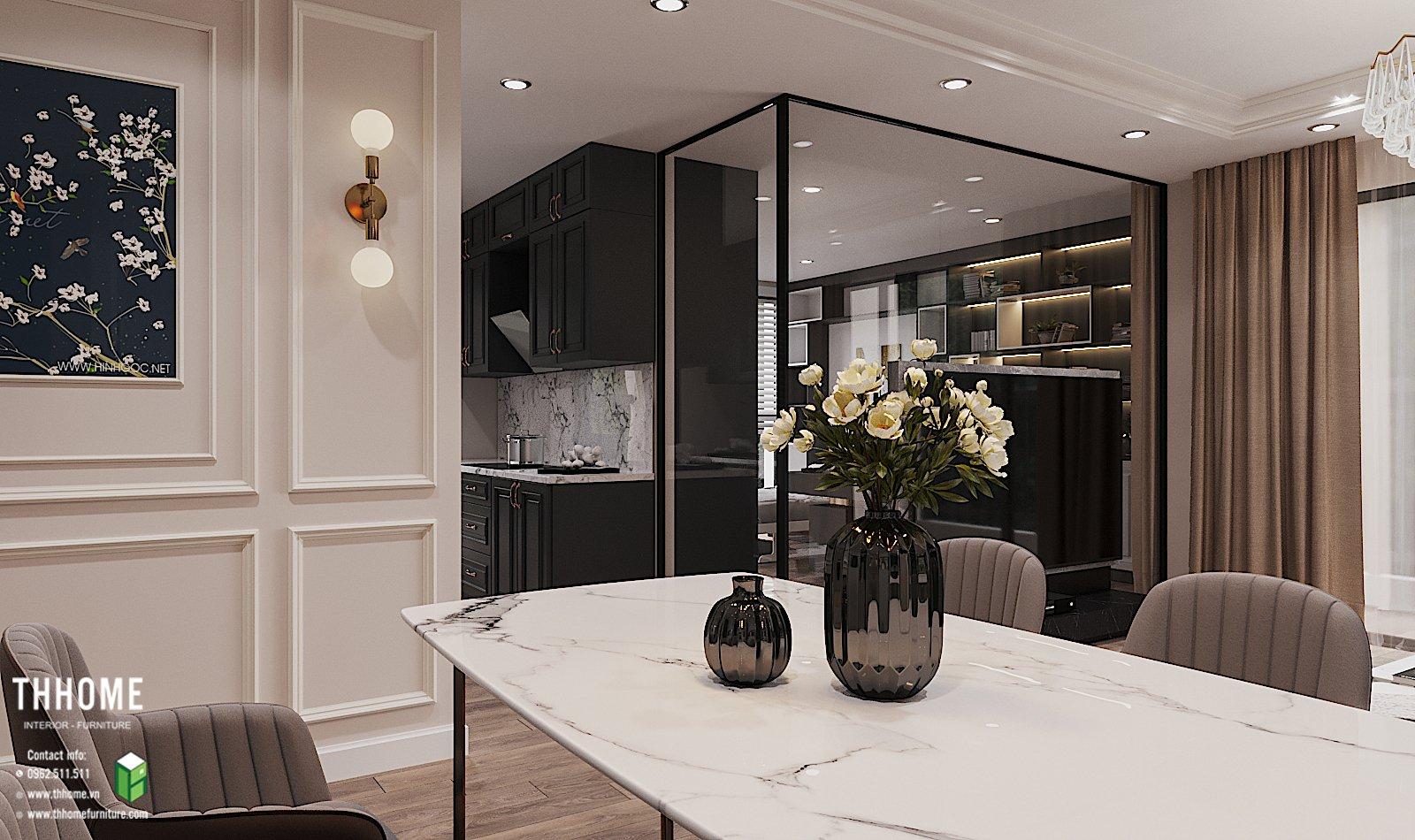 Phòng bếp nhỏ gọn mang lại không gian ấm cúng trong từng bữa ăn