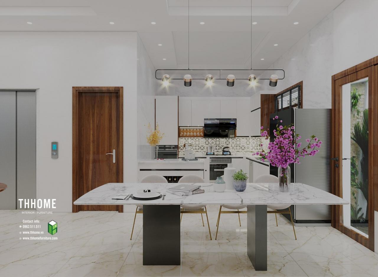 """""""<Nội thất phòng bếp với không gian ấn tượng."""