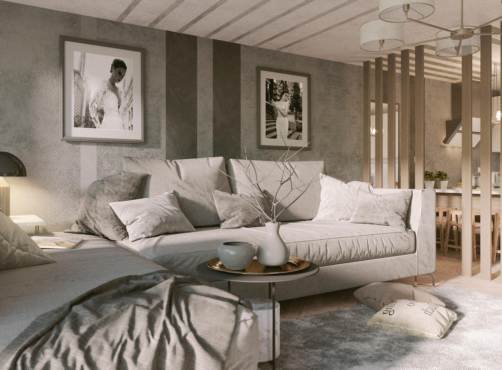 Màu sắc sáng, thanh lịch trong mẫu thiết kế nội thất đẹp