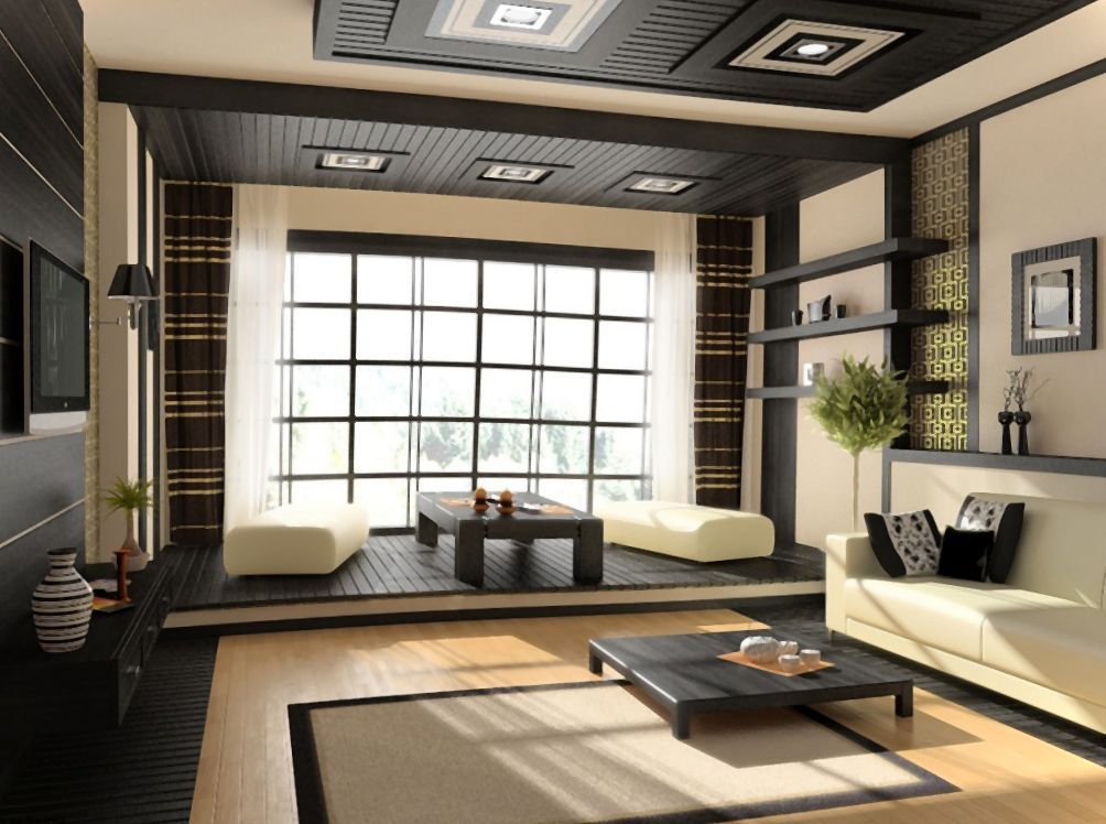 Không gian phòng khách mang đậm văn hóa Nhật bản và không gian trà đạo