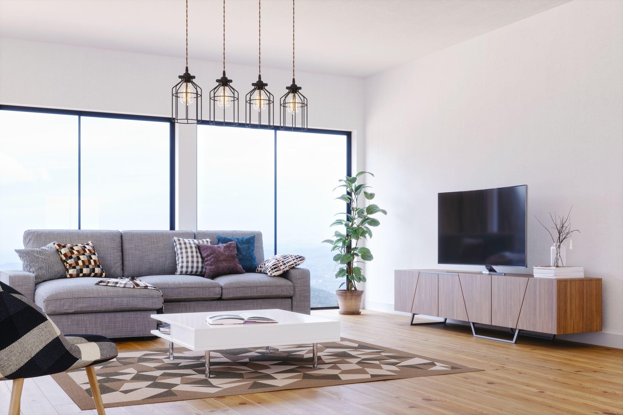 Phong cách hiện đại đầy đủ tiện nghi trong thiết kế phòng khách