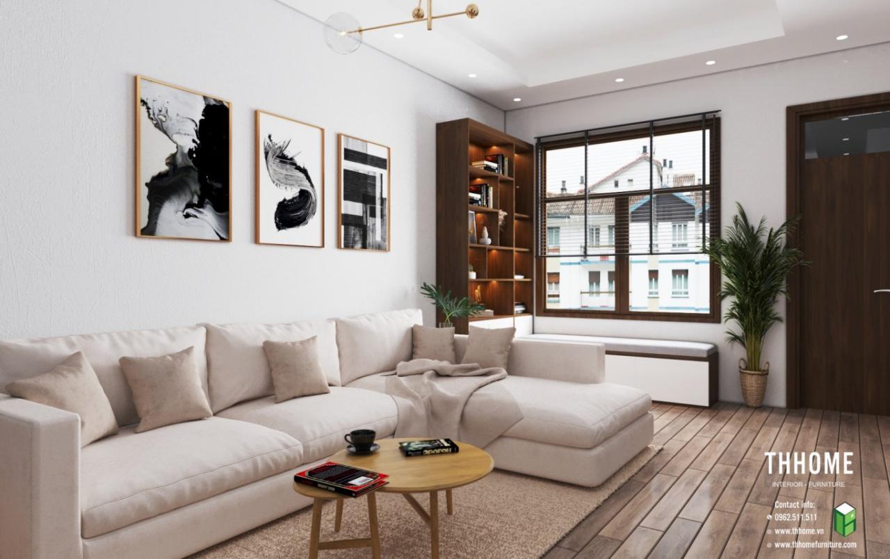 Không gian phòng khách để lại ấn tượng tốt đẹp cho khách quý