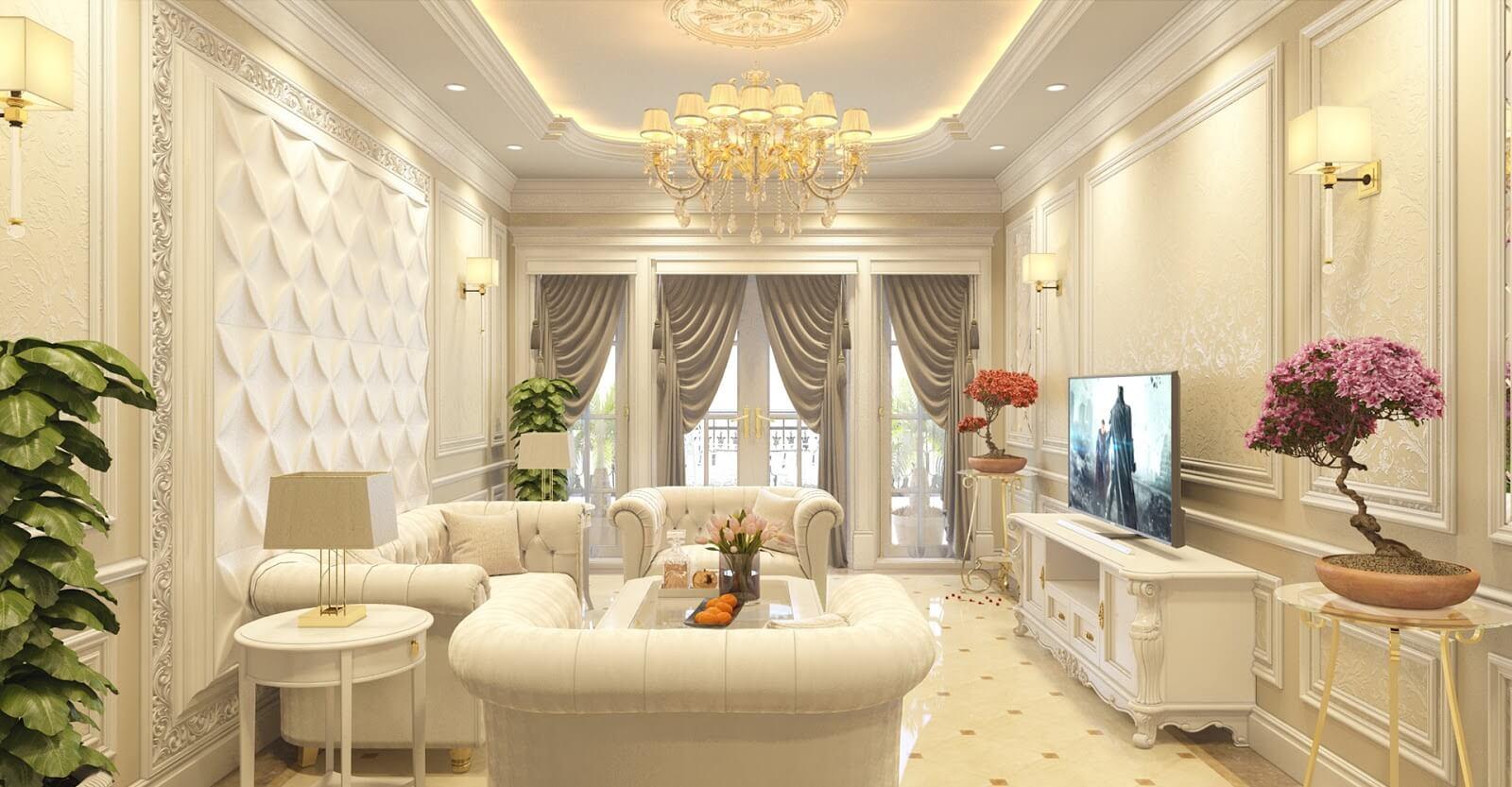 Phong cách nội thất tân cổ điển với những đường nét mềm mại, sang trọng