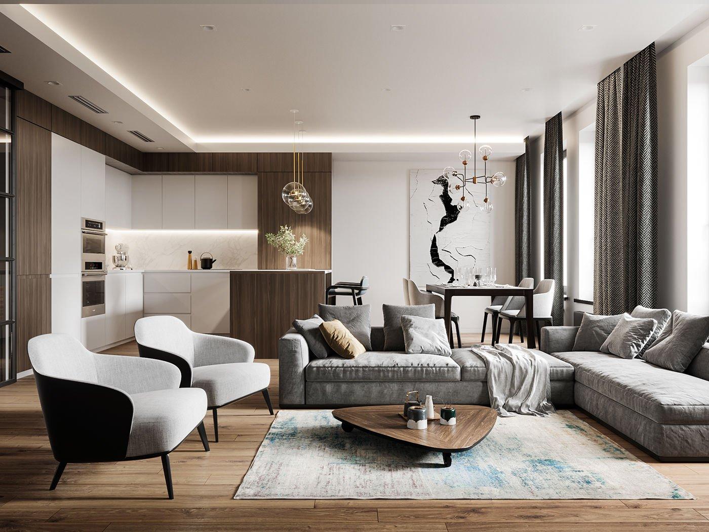 Phòng khách được tối giản nhưng vẫn thật tinh tế