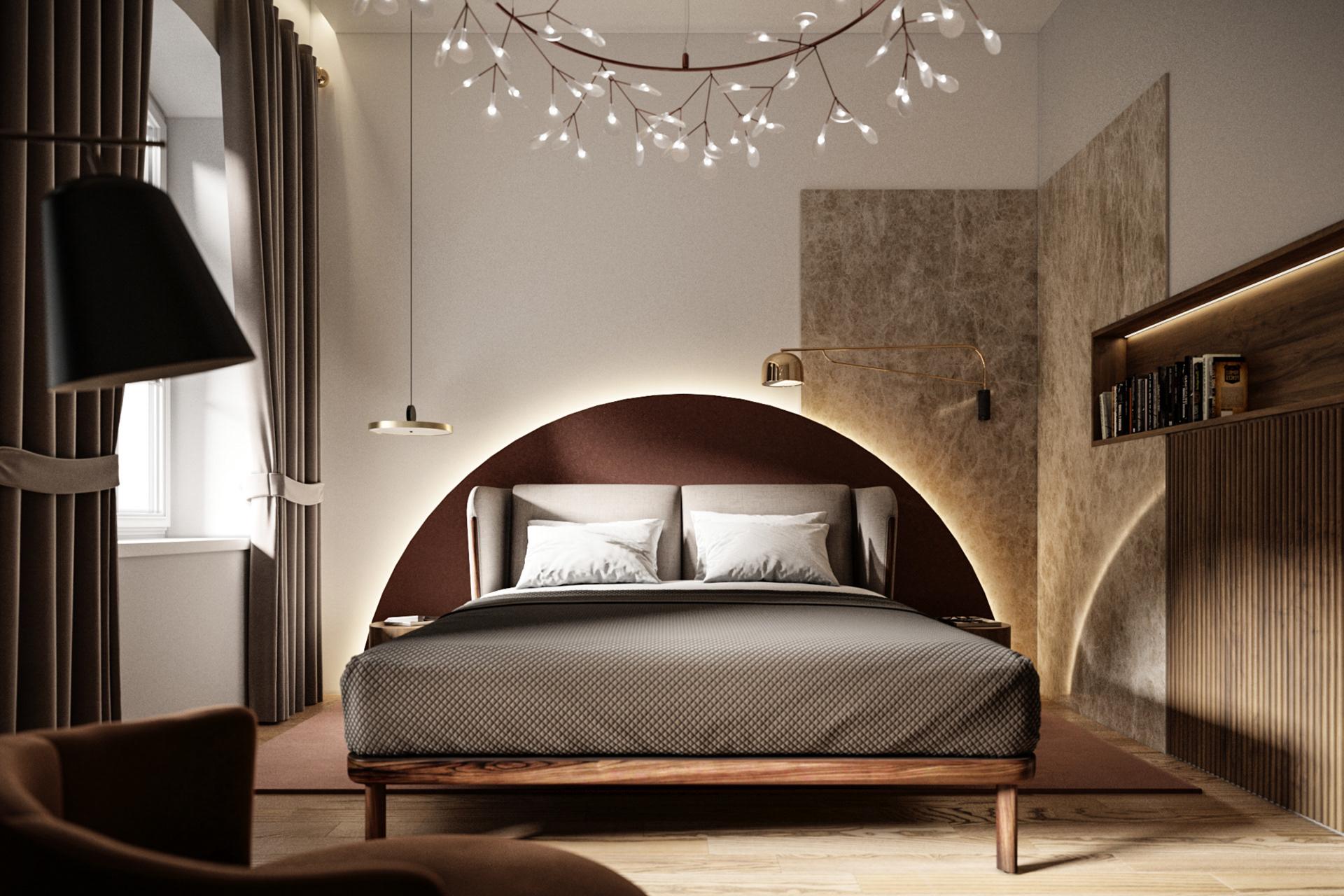 Phòng ngủ xa hoa với thiết kế khác lạ
