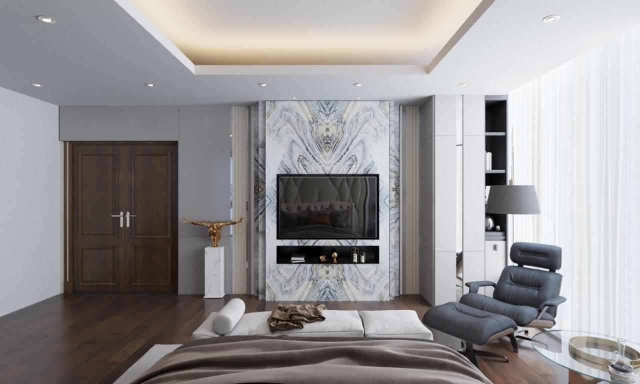 Nội thất căn penthouse thuộc dự án SKy Villa Giang Văn Minh do TH Home thi công