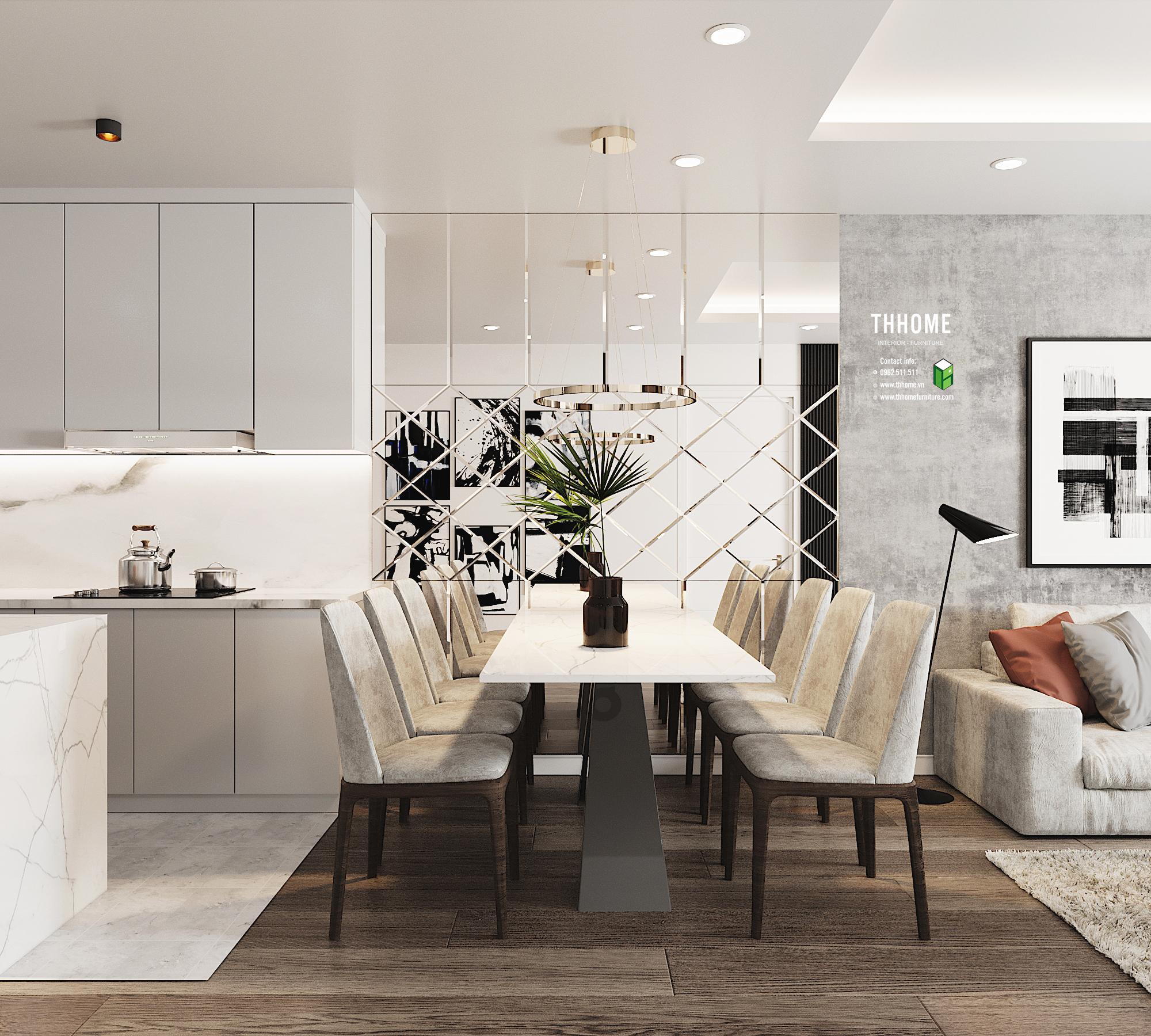 Mẫu thiết kế nội thất trong những dự án của TH Home