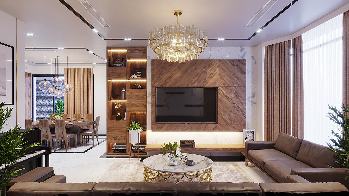 thiết kế nội thất song lập