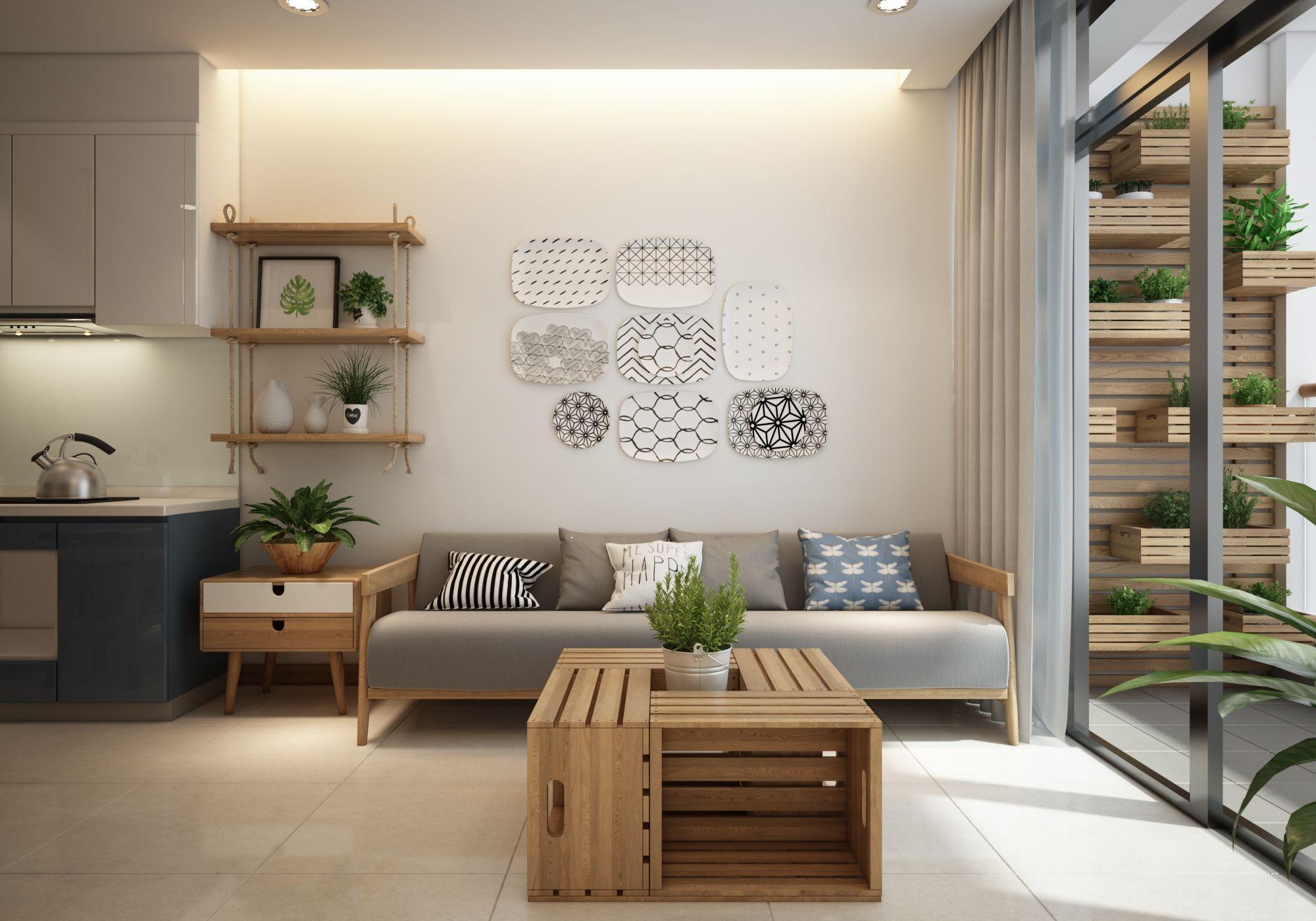 Trang trí nội thất chung cư 60m2 mang đậm chất Scandinavian
