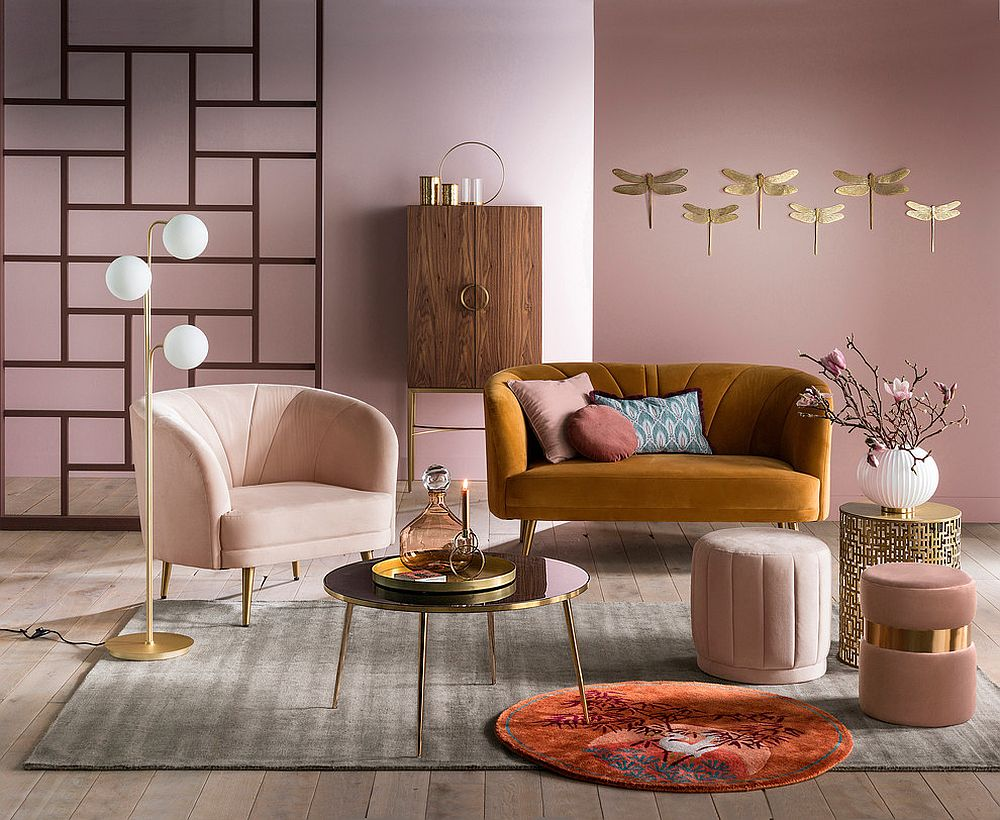 Mẫu sơn chung cư đẹp chủ đạo tông hồng - Xây dựng tây hồ
